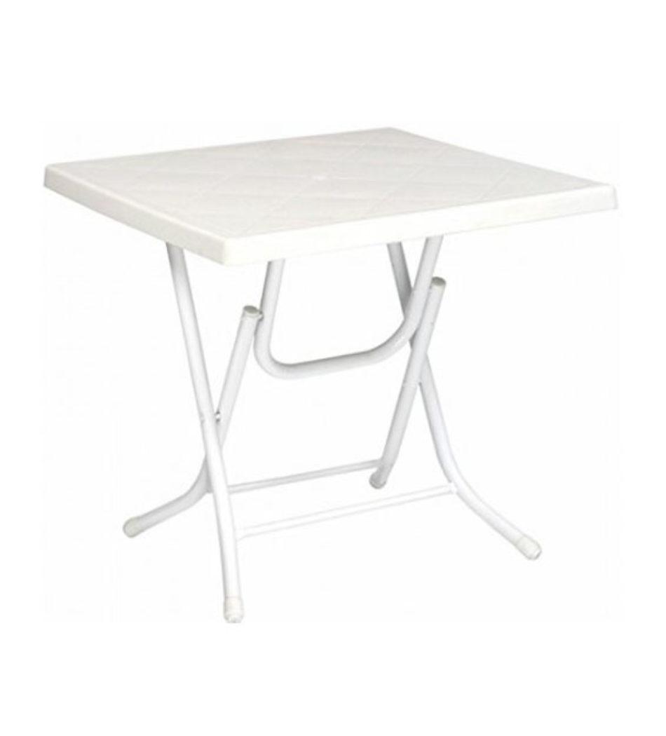 Mesa plegable blanca 70x70cm